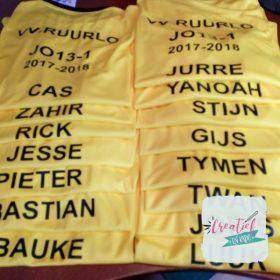 Voetbal shirts JO13-1 VV Ruurlo namen