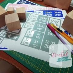 stickers voor geboorte toren