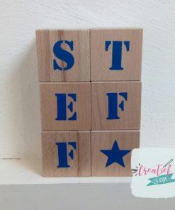 houten naamblokken Steff