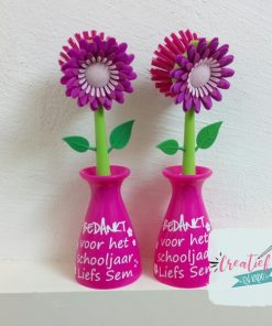 afwasborstel juf bloem, juf bedankt