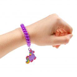armband eenhoorn paars