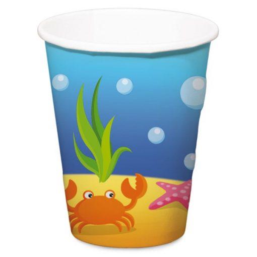 beker zeemeermin, beker onderwater wereld