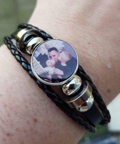 foto armband, touw armband, cadeau mama, foto cadeau