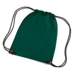 gymtas met naam, gymtas donker groen