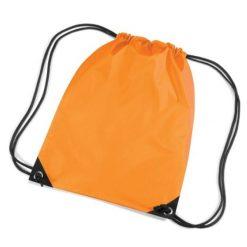 gymtas met naam, gymtas fluor oranje
