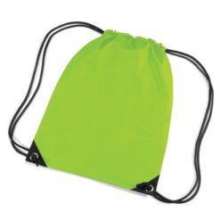 gymtas met naam, gymtas lime groen