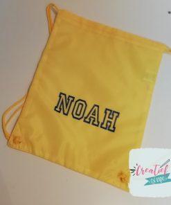 gymtas geel, zwemtas geel