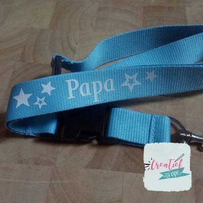 keycord lichtblauw voor papa