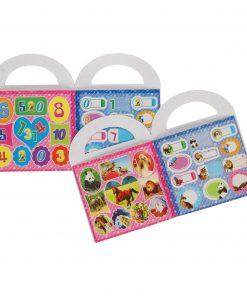 stickers in een kleurboekje met stickers