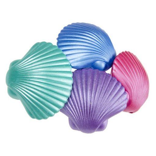 magische schelp zeemeermin in verschillende kleuren