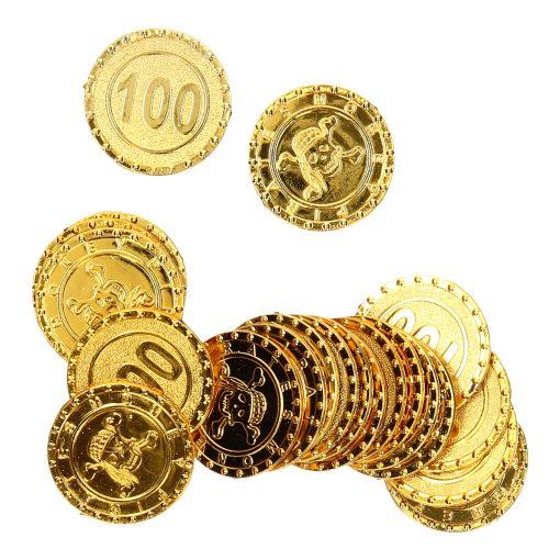 goudkleurige piraten munten
