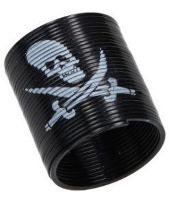 zwarte trapveer piraat
