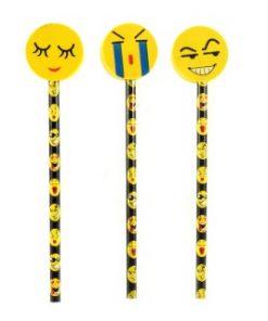 smiley potlood met emotions gum topper