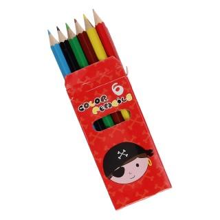 piraten potloodjes in een doosje