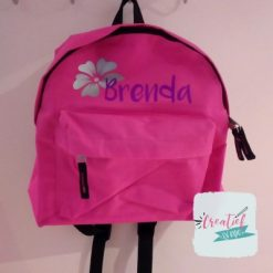 kinderugtas fuchsia met naam Brenda