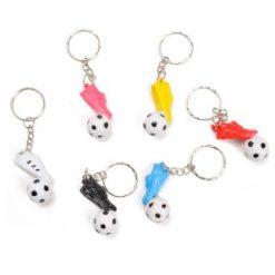 voetbal met voetbalschoen sleutelhanger