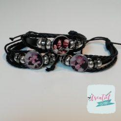 armbanden met eigen foto zwart