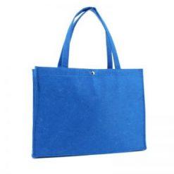 vilten tas blauw