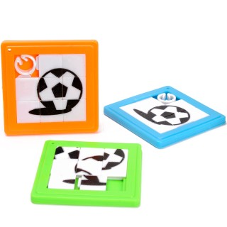 schuifpuzzel voetbal, sleutelhanger voetbal