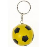 voetbal sleutelhanger geel, gele voetbal. voetbal traktatie