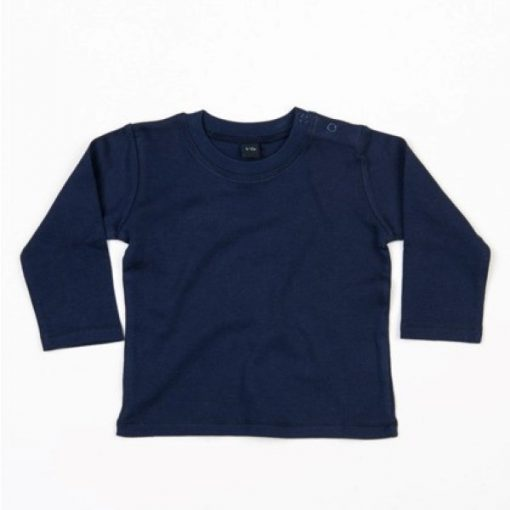 baby shirt lange mouw navy
