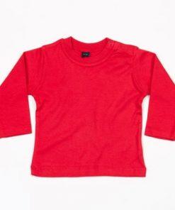 baby shirt lange mouw rood, longsleeve shirt baby rood