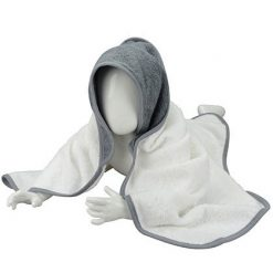 omslagdoek met naam grijs