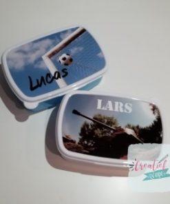 broodtrommel met naam, broodtommel met foto, lunchbox met naam, lunchbox met foto,