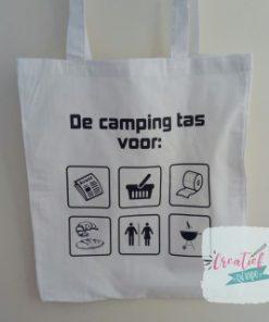wit katoenen tas camping tas