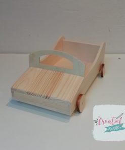 houten race auto, houten bierpakket, houten auto blanco