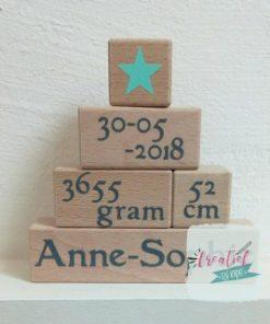 houten blokken geboorte piramide