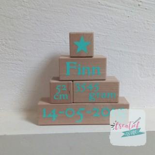 geboorte piramide met naam en geboortegegevens
