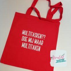 rood katoenen tas multitasken