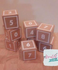 houten cijferblokken
