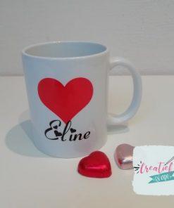 mok met naam Eline