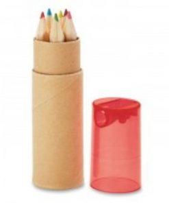 potloodjes in koker rood