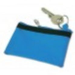 sleuteletui met naam blauw