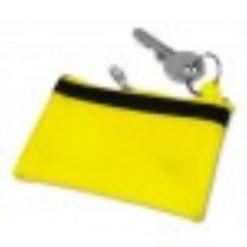 sleuteletui met naam geel