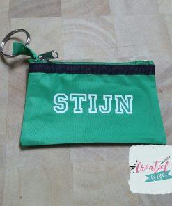 sleuteletui met naam groen Stijn