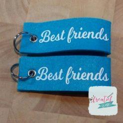 sleutelhanger turquoise best friends