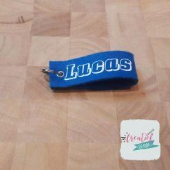 sleutelhanger blauw Lucas