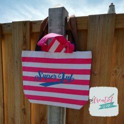strandtas roze juf