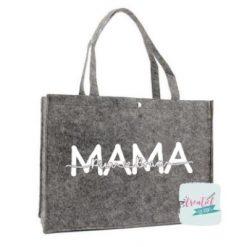 tas voor mama met namen, vilten tas