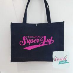 vilten tas zwart, tas Superjuf