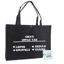 zwart vilten shopper, oppas tas oma
