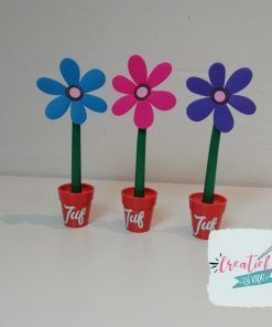 bloemen pen juf
