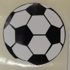 voetbal sticker, voetbal sluitzegel