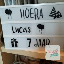 lightbox verjaardag hoera