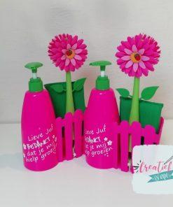 afwassetje roze juf