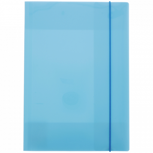 elastomap blauw, schoolmap blauw